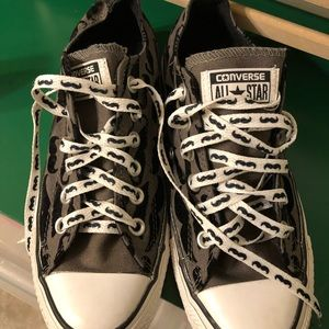 CONVERSE ALL STAR Sneakers Gray Black Shoes Musta
